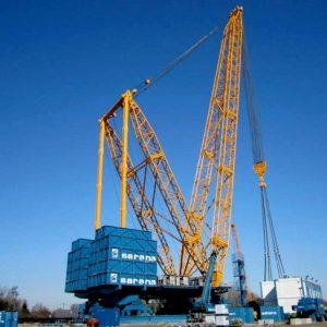 Chiêm ngưỡng cẩu 3200 tấn có trụ xoay cố định